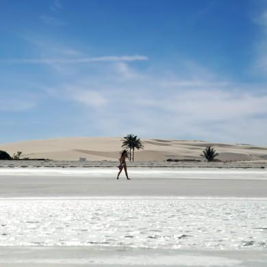 marche sur la plage de Jericoacoara