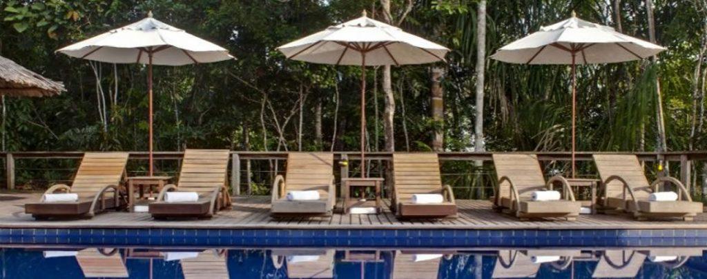 Amazonie piscine Anavilhanas lodge piscine