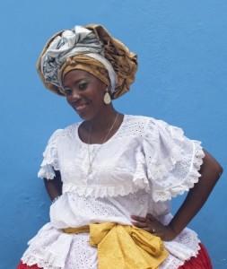 portrait Bahianaise en costume typique