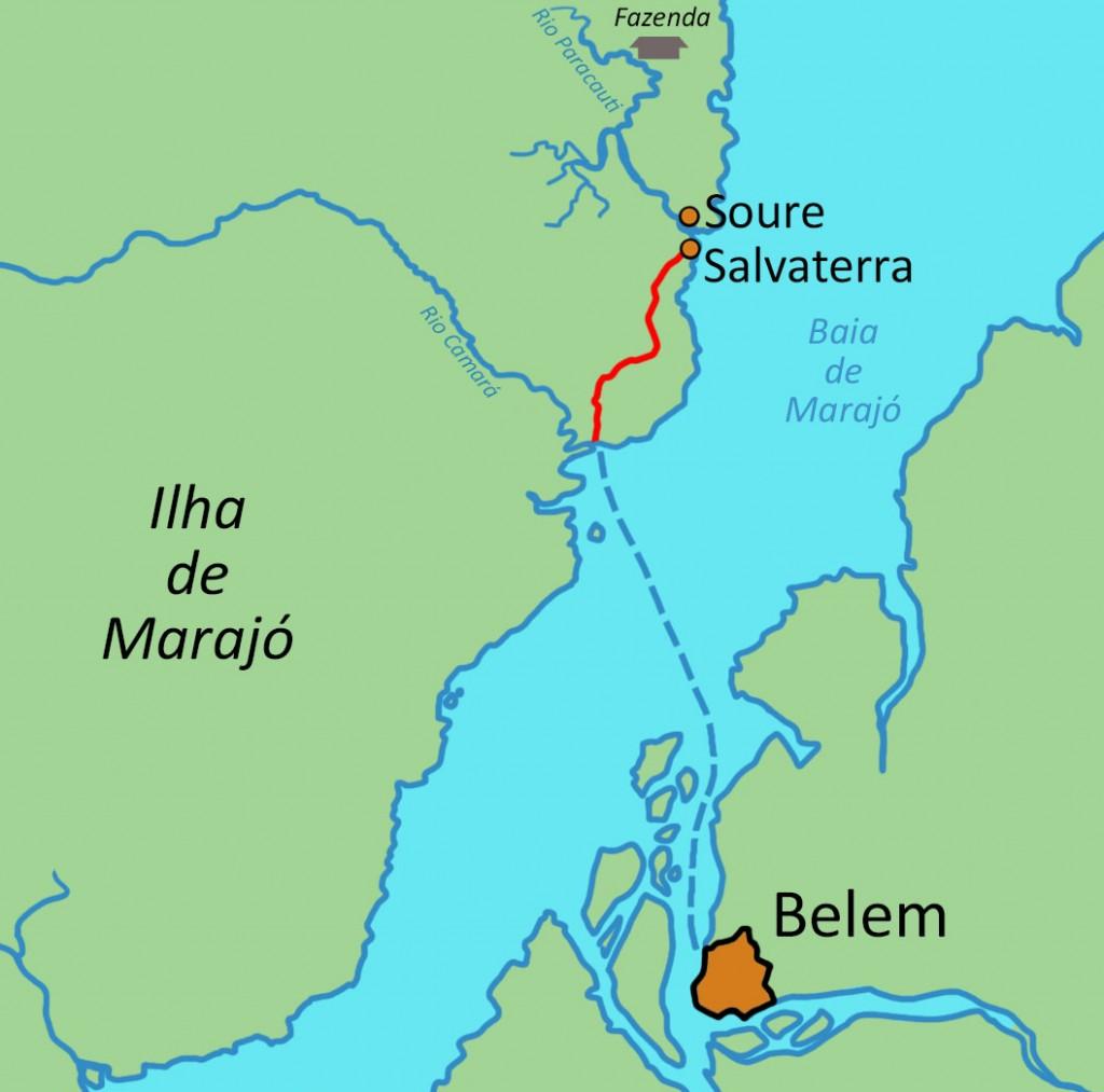 Carte Bresil Belem.Marajo Visitez La Plus Grande Ile D Amazonie A Dos De Buffle
