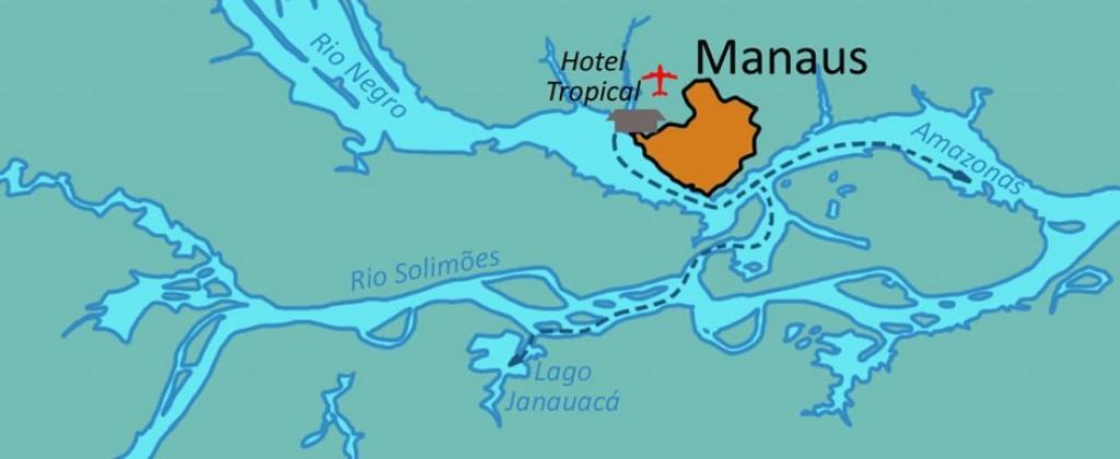 Carte croisière Amazone
