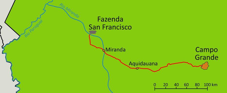 Carte pantanal sud