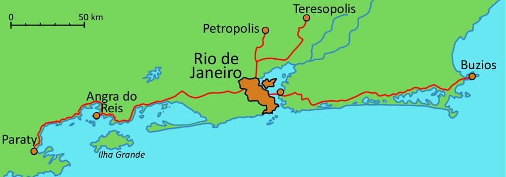 carte région Rio de Janeiro
