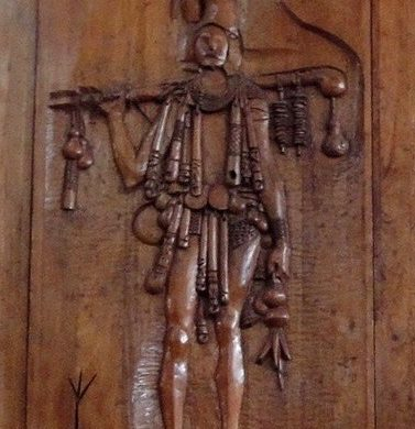 Carybe sculpture porteur