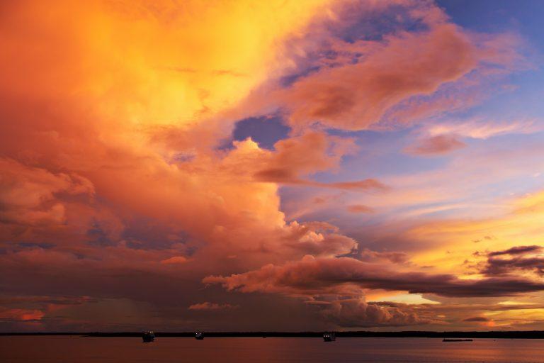 Croisière Rio Negro Amazone le soir