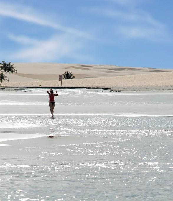 Jericoacoara_femme sur la plage