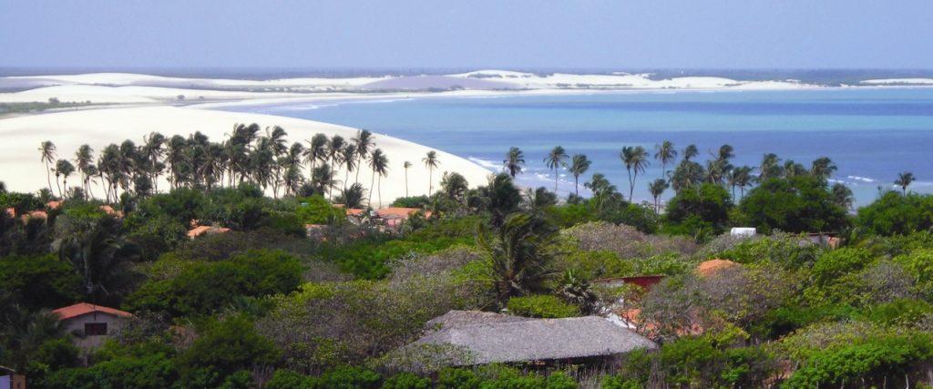 Jericoacoara vue du phare sur le village