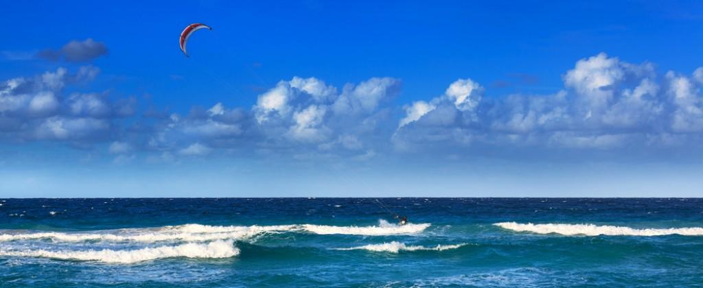 kite surf dans les vagues