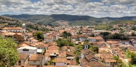 Minas Gerais  vue aérienne Mariana