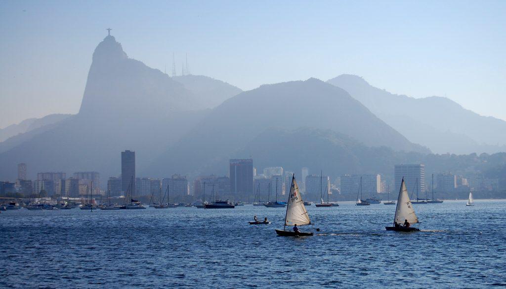 Rio de Janeiro Corcovado vue de la baie