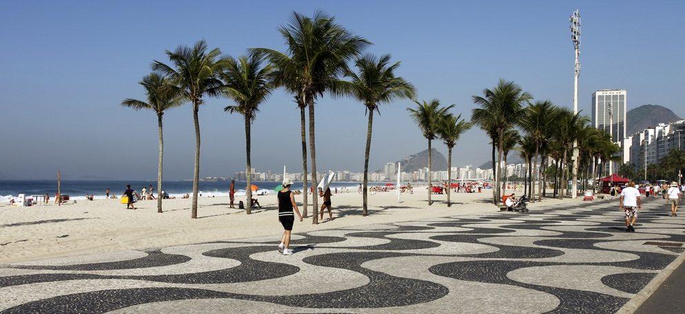 Rio de janeiro  dessins chaussée plage Copacabana
