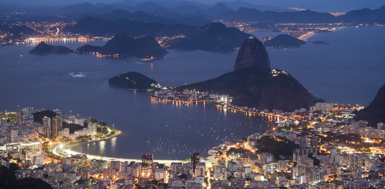 Rio de Janeiro quartier de Botafogo la nuit