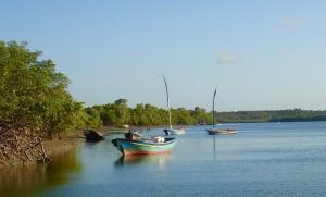 Rio Preguiças barques amarrées