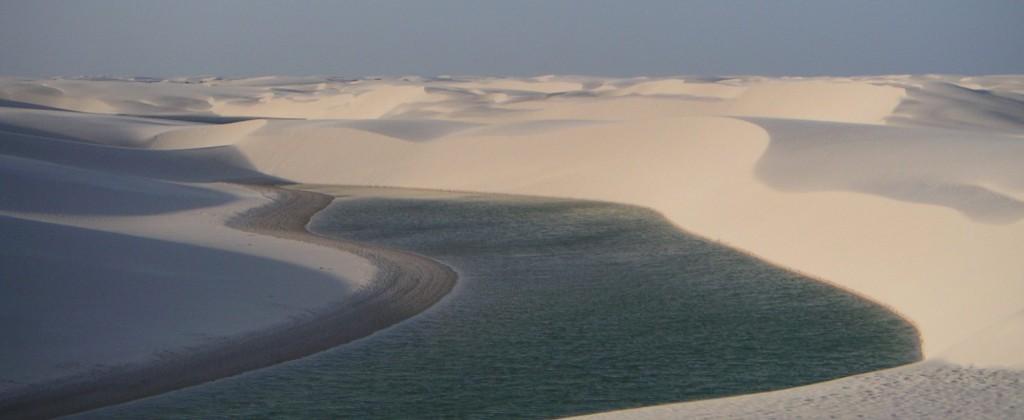 dune et lagune coucher de soleil Lençois Maranhao