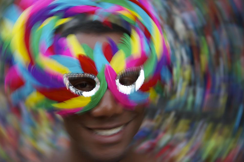homme masqué carnaval Salvador Bahia