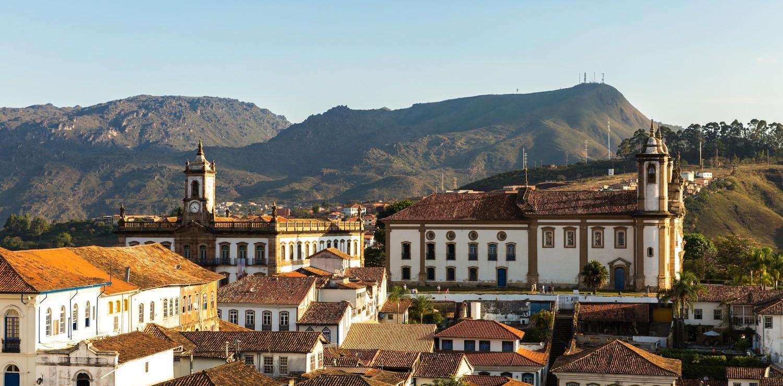Minas gerais vue toits Ouro Preto