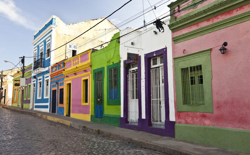 ruelles avec façades colorées Olinda