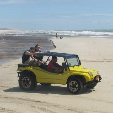 en buggy vers Canoa Quebrada