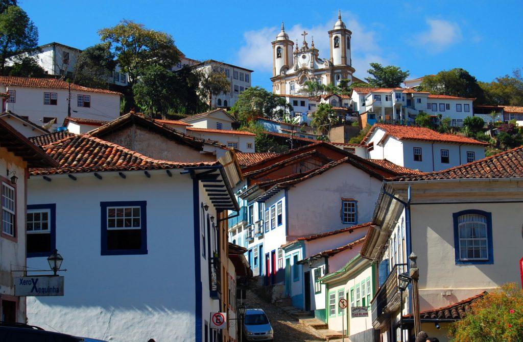 Minas Gerais rue montante de Ouro Preto
