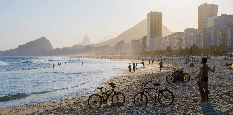 Rio de Janeiro bicyclettes plage du Leme
