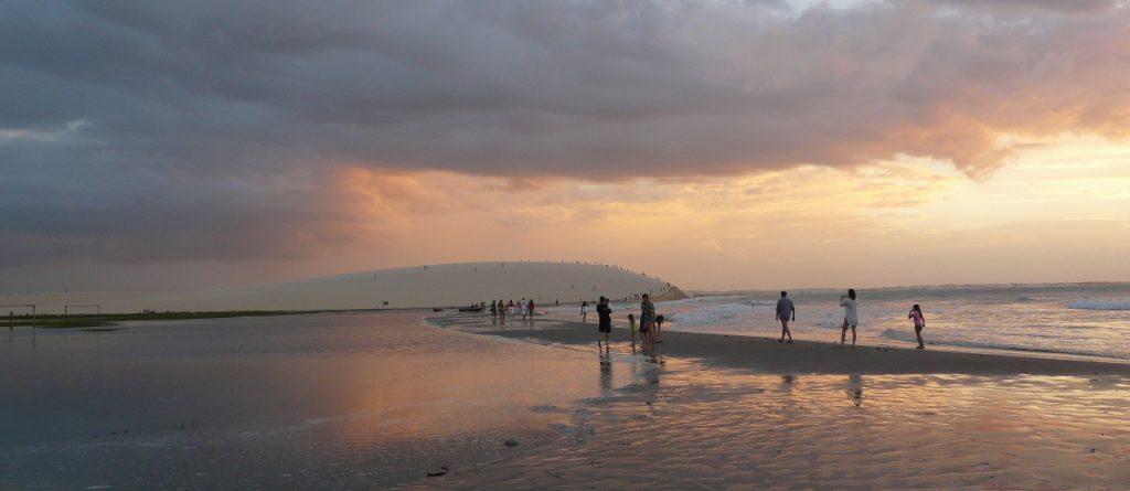 coucher de soleil plage Jericoacoara