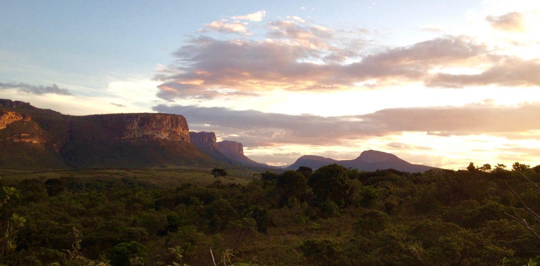 coucher de soleil sur la Chapada Diamantina