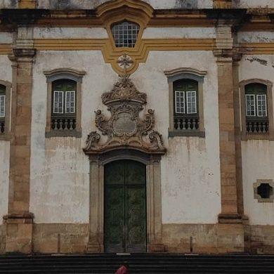 gros plan façade église Minas Gerais