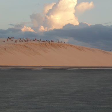 la dune de Jericoacoara  sous les nuages