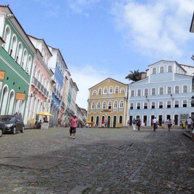 le triangle de la place du Pelourinho Salvador de Bahia