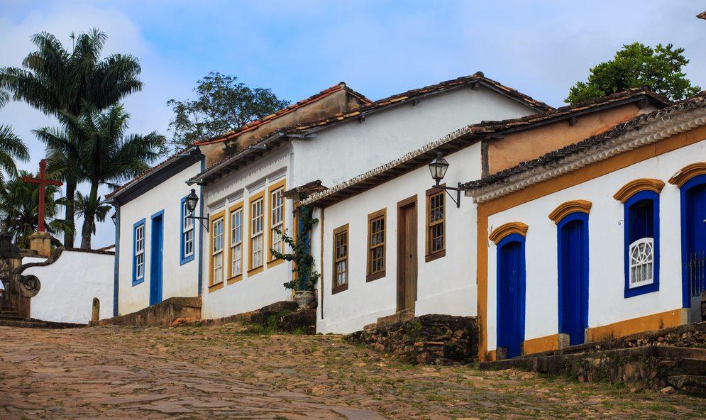 Minas gerais ensemble de façades Tiradentes