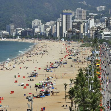 Rio de Janeiro plage de Leblon le week-end
