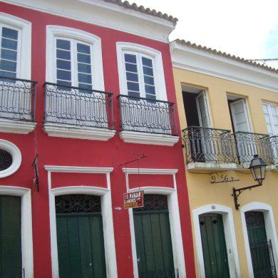 salvador de Bahia  façades rouges et ocres
