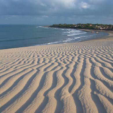 vue de Jericoacoara depuis la grande dune