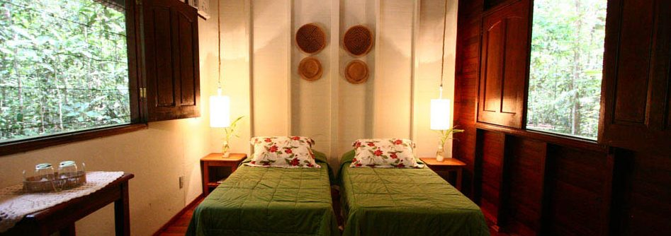 chambre bois twin Amazon ecopark