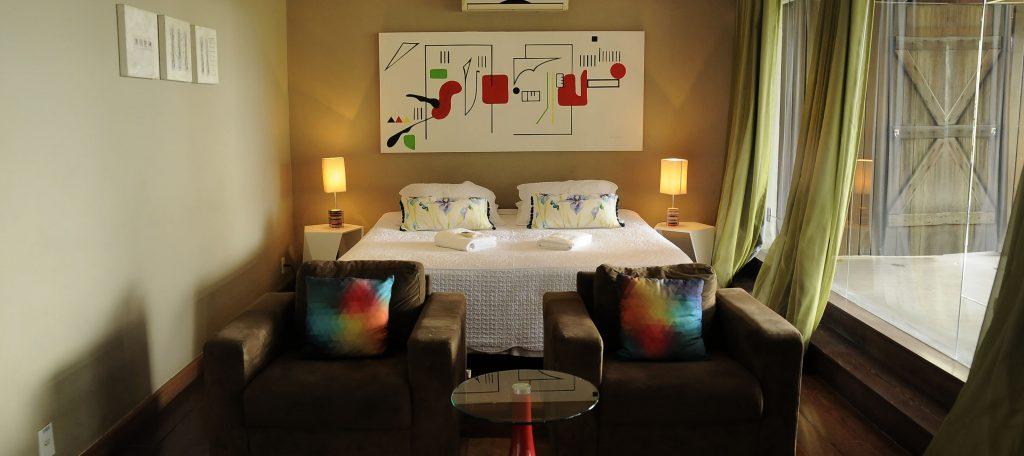 Chambre art déco Hotel Altos Santa Teresa Rio de Janeiro