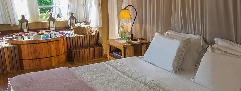 ofuro chambre hôtel Brisa da Serra Tiradentes