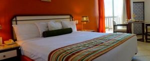 Chambre luxe rouge Hotel Grand sao Luis