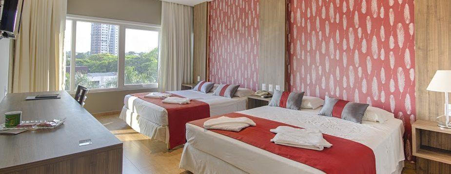 Chambre rouge Continental Inn Iguaçu