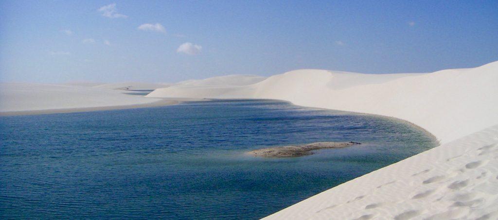 lagune eau bleue Lençois Maranhenses