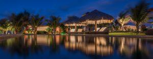 Piscine illuminée hotel Vila Selvagem Fortim