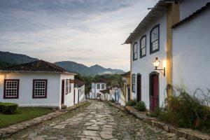 ruelle crépuscule Tiradentes Minas Gerais