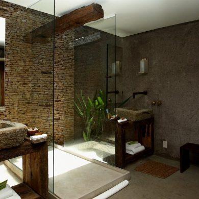 Salle de bains chambre kenoa resort