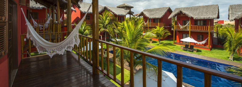 Vue piscine Hotel Long Beach Canoa Quebrada