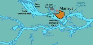 Carte avec Amazon eco Park Manaus