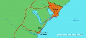 Carte Maceio Barra de Sao Miguel