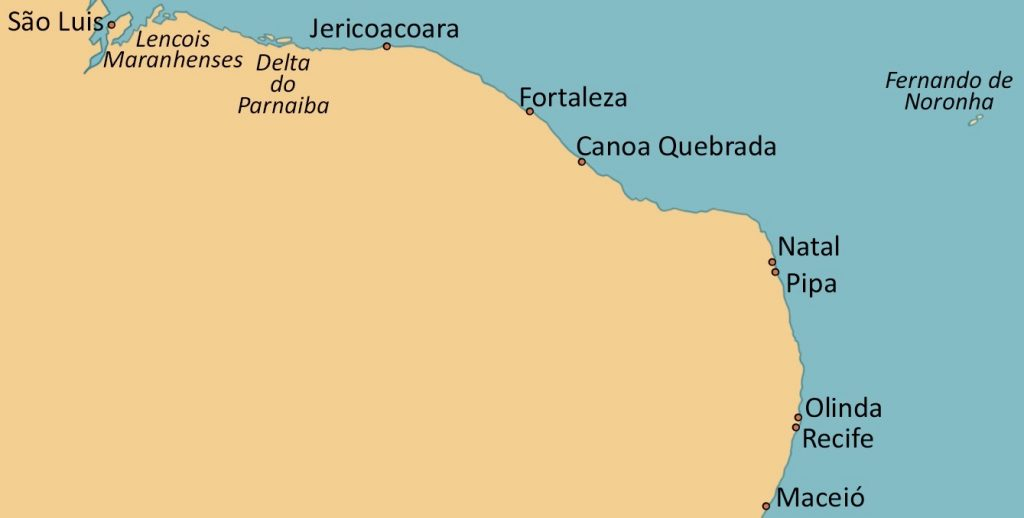 Carte Du Bresil Nordeste.Voyage Tourisme Dans Le Nordeste Un Des Joyaux Du Bresil