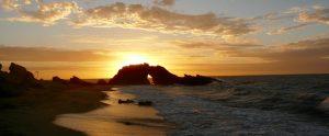 coucher de soleil roche percée Jericoacoara