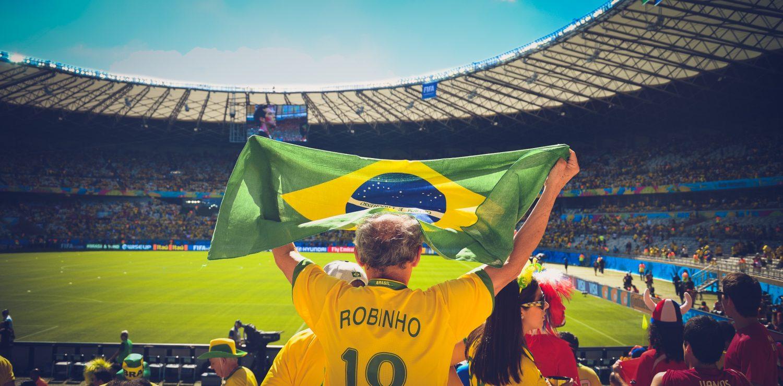suporter Brésilien drapeau