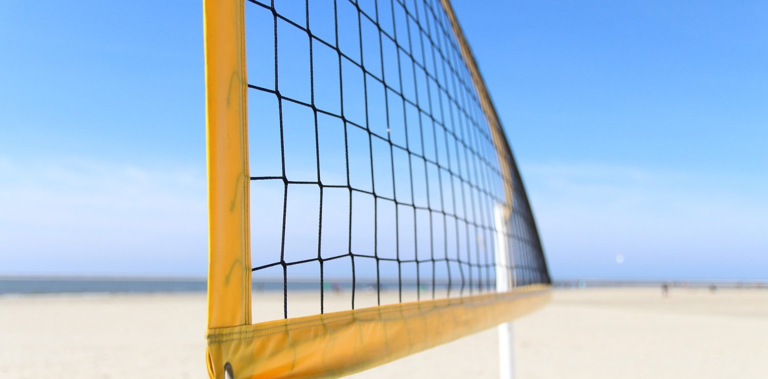 filet de beach-volley sur la plage Brésil