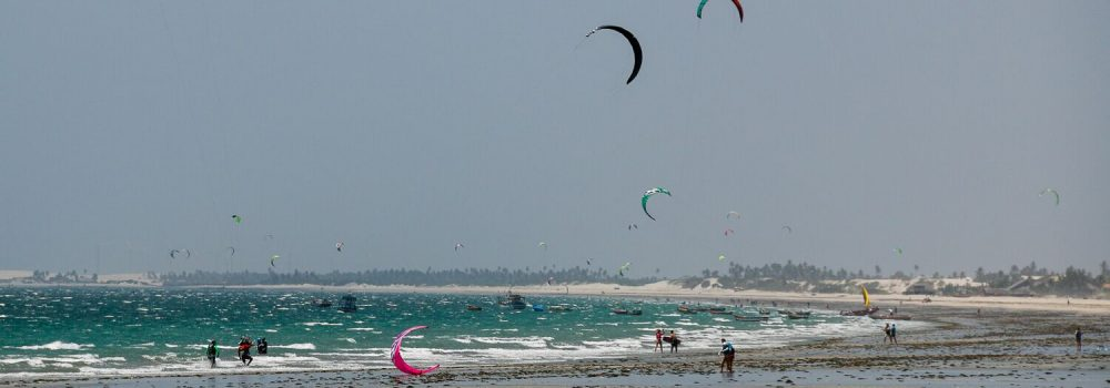 kitesurf marée basse à Prea